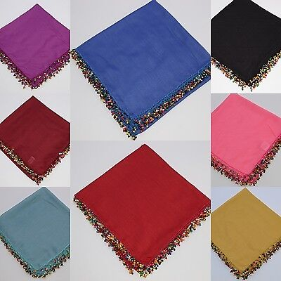 Handmade Embroidered Turkish Scarf Yazma Cotton Headscarf Beaded Lace