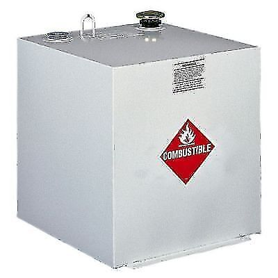 Delta 485000 White Steel 50 Gallon Square Liquid Transfer Tank