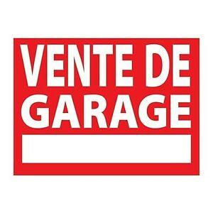 VENTE DE GARAGE - RAPPEL - 21/09/19