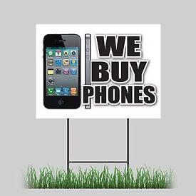 We buy used and broken phones