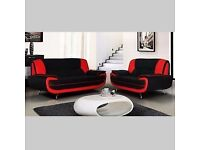High Quality Palermo Faux Leather 3+2 Sofa Same/Next Day Delivery