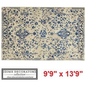 "NEW HDC CASTILLO BLUE AREA RUG - 125006929 - HOME DECORATORS COLLECTION 9'9"" x 13'9"" RUGS CARPET CARPETS FLOORING DECOR"