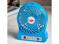 FAN Small, Mighty Powerful lightweight fan portable rechargeable fan ideal for keeping you cool.