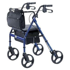 Rollator Walker Hugo Elite Seat Backrest and Saddle Bag for sale