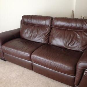 Luxury Genuine Leather reclining couch NEW London Ontario image 1