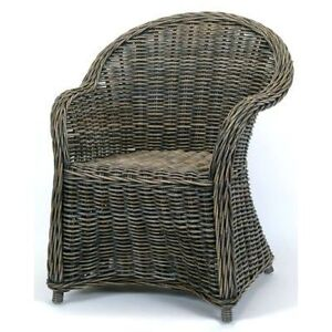Brand New Hand Woven Rattan Dining Arm Chairs Lounge Chairs