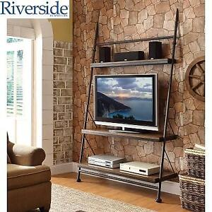 NEW RIVERSIDE LEANING TV STAND 23740 147056326 CAMDEN TOWN HAMPTON ROAD ASH
