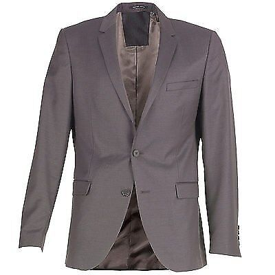 Selected Homme Mens One Mylo Viz 4 Stripe Blazer Dark Grey