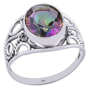 Beautiful Mystic Topaz ring, size 7.5
