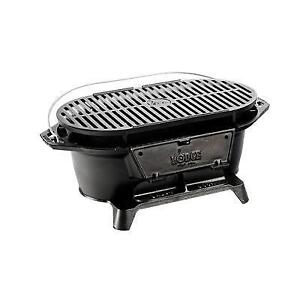 Lodge Logic Cast Iron Sportsman's Charcoal Grill