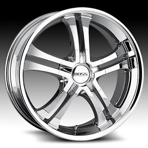 BOSS Motorsport 327 chrome wheels/rims, 20 inches, set of 4