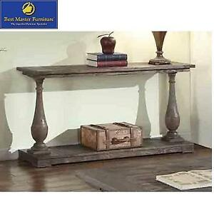 NEW BMF RUSTIC SOFA TABLE - 123230511 - BEST MASTER FURNITURE