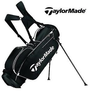 NEW TAYLORMADE STAND GOLF BAG TM Stand Bag 5.0 BlkWht 190051128 BLACK WHITE