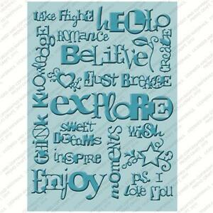 Cuttlebug 5x7 Word collage embossing folder - $9