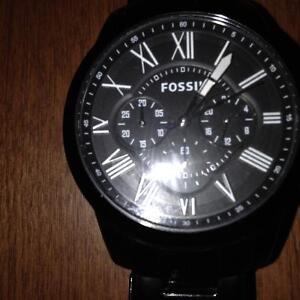 Fossil Men's Grant FS4832 Black Stainless-Steel Quartz Watch