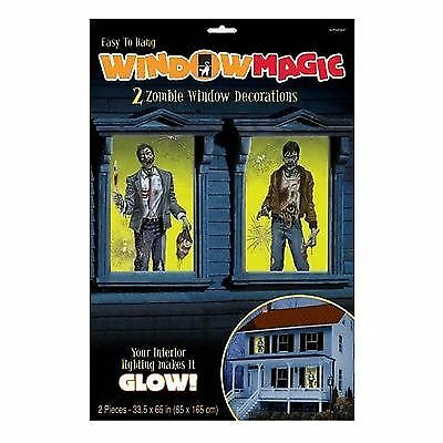 Halloween Fenster Dekoration ZOMBIE Grusel Party Themenparty Gothic Aufkleber