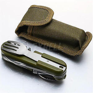 NEW army multitools fork knife spoon+ case and more