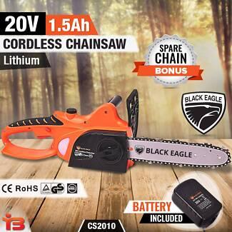 "20V Cordless Electric Chainsaw 10"" Lithium Pruner Garden"