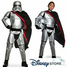 NEW DISNEY STAR WARS KIDS SILVER STORMTROOPER COSTUME + MASK + CAPE