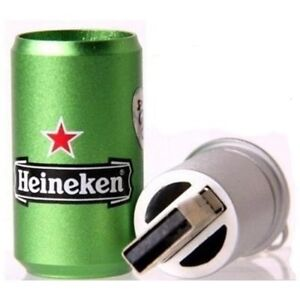32GB Heineken Metal Memory stick Flash drive USB 2.0