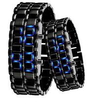 Unisex Black Stainless Steel Bracelet Watch