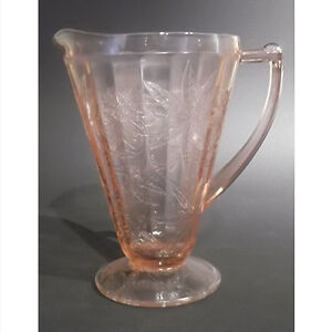 Jeannette Glass Pink Depression Pitcher