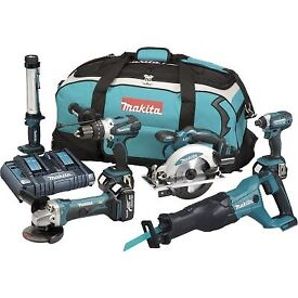 Makita 18v 5.0ah 6 piece kit