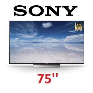 REFURB SONY 75'' 4K XBR75X850D HDTV - 128047101 - SMART LED ANDROID 120Hz