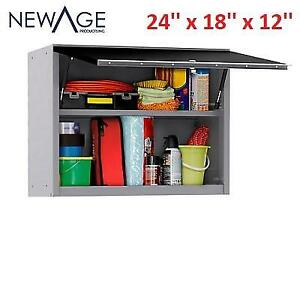 NEW* NEWAGE GARAGE WALL CABINET 53000 226637077 WALL MOUNTED 24'' x 18'' x 12'' STEEL BLACK PERFORMANCE