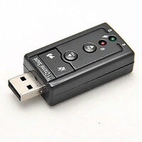 For Sell 12Mbps USB 2.0 Virtual 7.1-Channel CH 3D Audio Sound Ca