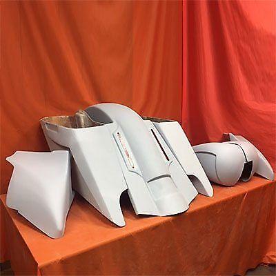 Harley 5″ Fifty Five Saddlebag LED Fender Tank Shroud Side Covers Full Body Kit