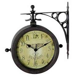 Infinity Instruments The Charleston Two-Sided Indoor/Outdoor Hanging Clock