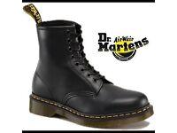 QUICK SALE - WOMENS BLACK LEATHER DR MARTENS - SIZE 6 - RRP £115 - QUICK SALE PRICE £34.99