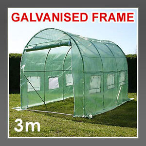 POLYTUNNEL GREENHOUSE POLY TUNNEL POLLYTUNNEL GALVANISED FRAME WITH COVER PRO +