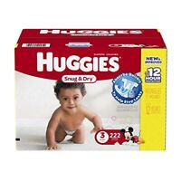 NEW HUGGIES Snug & Dry SIZE 3 Diapers / Couches - 222 count
