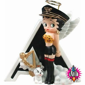 OFFICIAL BETTY BOOP FIGURE FIGURINE ALPHABET INITIAL LETTER A Z NEW GIFT BOXED