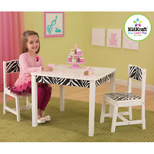 NEW: KidKraft Funky Table and Chair Set - Zebra pattern
