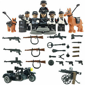 Lego compatible WW2 world war two toy soldier set