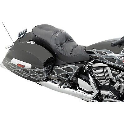 Drag Specialties - 0810-1542 - Low-Profile Touring Seat for Victory OEM Backrest