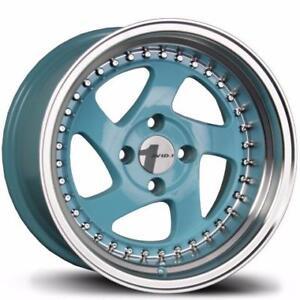AVID1 AV19 15X8.5 4X100 ET17 TIFFANY BLUE SET(4)
