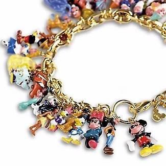 Collectable Disney Charm Bracelet 24c Gold