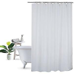 Shower Curtain Liner 75 Inch Long Ufriday Fabric Mildew Resistant