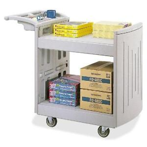 NEW* SAFCO PRODUCTS UTILITY CART - 128598181 - 2-SHELF GRAY