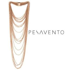 NEW* 925 ROSE GOLD VERMEIL NECKLACE - 133205438 - JEWELLERY JEWELRY PESAVENTO