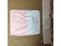 My little garden crib bedding set