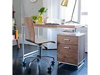 Dwell Walnut Desk and Matching Walnut office Chair RRP £500 plus