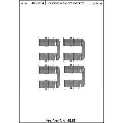 Zubehörsatz, Scheibenbremsbelag QUICK BRAKE 109-1734