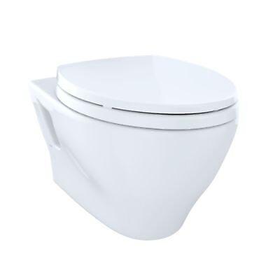 Toto CT418F#01 Aquia Wall-Hung Dual-Flush Toilet, 1.6 GPF & 0.9 GPF, Elongated B - Gpf Dual Flush Toilet