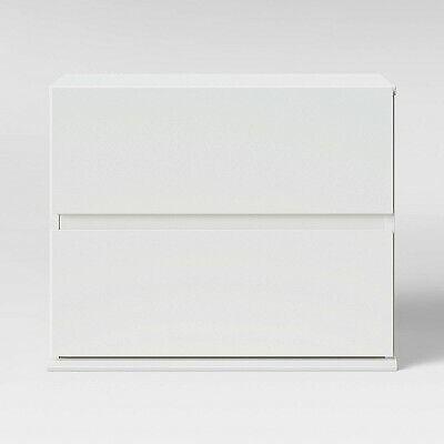 2 Drawer Modular Nightstand White - Room Essentials