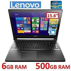 NEW OB LENOVO TOUCHSCREEN LAPTOP - 130086145 - 15.6'' PC INTEL 2.2GHZ 6GB RAM 500GB HDD WINDOWS 10 NEW OPEN BOX PRODUCT